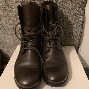Brown Yves Saint Laurent boots